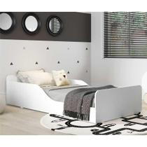 Cama Montessoriana Multimóveis 100% MDF para colchão 150x70cm Branca -