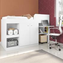 Cama Multifuncional Juvenille para colchão 188 x 78 cm Branco - Art In Móveis -