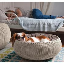 Cama para Animais com Almofada Redonda - Keter -
