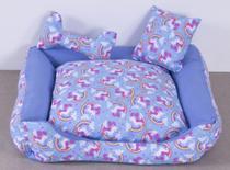 Cama Pet Unicolors Azul Tamanho M - Decoralle