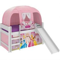 Cama Princesa com Barraca Disney Pura Magia Play Branca