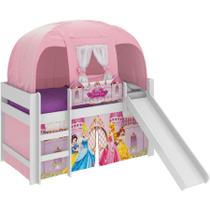 Cama Princesas Disney Play com Escorregador e Barraca - Pura magia