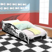 Cama Solteiro Carro Drift 88x188 - Branco / Branco - RPM Móveis -
