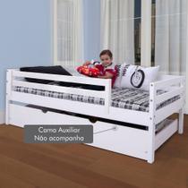 Cama Solteiro Infantil c/ Grade de Proteção Madeira Maciça - Meninos - Casatema -