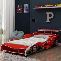 Cama Solteiro Infantil Gelius Carro Fórmula 1 Vermelho -