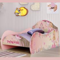 Cama Solteiro Princesa Rosa - Móveis Bela