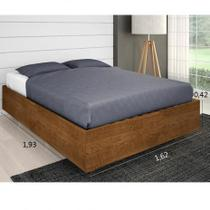 Cama Super Box Casal Framar 1,38 Malbec chocolate