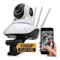 Camera 3 Antenas 1080p YooSee Full Hd Wifi Wireless Luatek Visão Noturna 360 graus Segurança Robô -