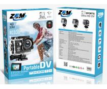 Câmera 4k Sports Ultra Hd Dv Wi-fi Prova D'água Com Controle Remoto - Zem