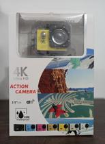 Câmera Action 4k com WI-FI a Prova D'Água ( Amarelo) - Action Camera