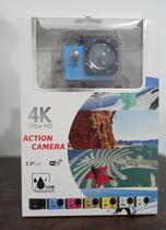 Câmera Action 4k Ultra com WI-FI a Prova D'Água ( Azul) - Action Camera