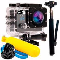 Camera Action Go Cam Pro Sport Ultra 4k Com Bastão De Selfie -
