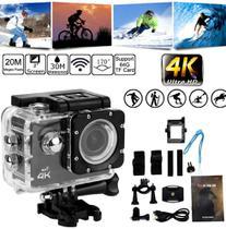 Câmera Action Pro Sport 4k Full HD Prova Água Wi-fi Moto Mergulho Capacete Skate Surf Bike - MKB