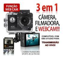 Câmera Action Ultra Hd 4k Sport Wi-fi A Prova D'água -