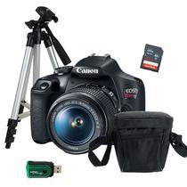 Câmera Canon T7 + Tripé Fotográfico + Bolsa + Cartão 32GB + Leitor -