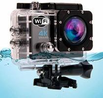 Câmera de Ação 4k Ultra HD Sports Wi-Fi Resistente Água 30m Dourado -