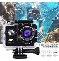 Câmera De Ação Action Pro Sport 4k Wifi Mergulho Cor Dourado - Sports