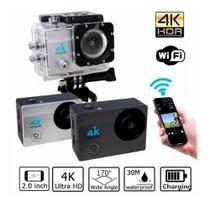 Câmera De Ação Action Pro Sport 4k Wifi Mergulho Cor Preto - Action sport 4k