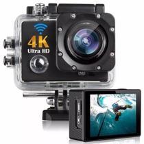 Câmera De Ação Action Pro Sport 4K Wifi Mergulho Cor Preto - Cam Sport