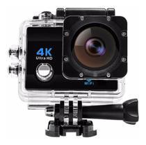 Câmera De Ação Action Sport 4k Wifi Mergulho Cor Preto - Action 4K Sport