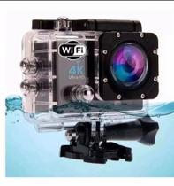 Câmera De Ação Action Sport 4k Wifi Mergulho Cor Preto -