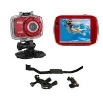 Câmera de ação Full HD DVR787 Vivitar + Suportes p/ Bike -