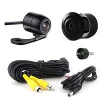 Câmera de Ré Automotiva Colorida 2x1 Borboleta Parachoque - Agf Imports
