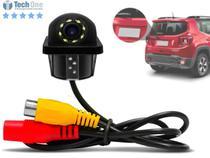 Câmera De Re Automotiva Estacionamento Tartaruga Visão Noturna C/ Led Colorida Marca Distância Cabo Reverso - Techone -