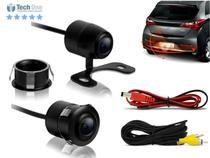 Câmera De Re Flex 2 x 1 Automotiva Estacionamento Borboleta ou Embutir C/ Chip Frequência Imagem Colorida - Techone -