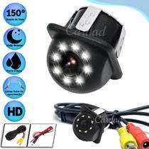 Câmera De Ré Led Branco Visão Noturna Tartaruga Universal Hd - TECH ONE CODE