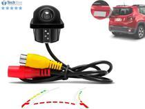 Câmera de Ré Tartaruga Automotiva Carro Sensor de Curva Linhas Guias Dinâmicas Chip Frequência Imagem Colorida - Techone -
