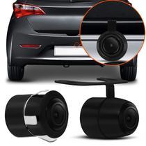Câmera de Ré Universal 2 em 1 Borboleta e Para-Choque ou Placa Colorida Com Kit instalação - Prime