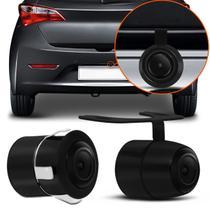 Câmera de Ré Universal 2 em 1 Borboleta e Parachoque ou Placa Colorida com Kit Instalação - Prime