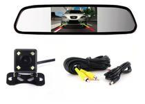 Câmera de Ré Visão Noturna Espelho Retrovisor Tela 4,3 Polegadas - Ray-X