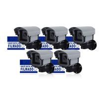 Câmera de Segurança Falsa Com Led + Placa de Advertência - Confiseg