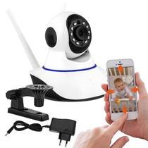 Câmera de Segurança Residencial IP Wi-Fi 720p Branco Infravermelho Visão Noturna App Android e iOS - Prime
