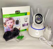 Camera de Segurança Robo 3 Antenas Ip Wifi 360º 720p Monitorar Visão Noturna -