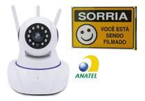 Câmera de Segurança Sem Fio Ip Hd 720 Wifi com 3 Antenas - Xshang