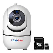Câmera de Segurança Sem Fio IP Wifi Full HD 1080p Tudo Forte 10m Infra Detecção Movimento 32GB -