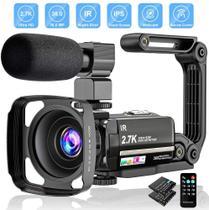 Câmera de vídeo 2.7K Filmadora Câmera Ultra HD 36MP - Aabeloy