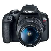 Câmera Digital Canon DSLR EOS Rebel T7 Plus Tela LCD 3'' 24.1 MP Full HD e Lente EF-S 18-55mm IS II -
