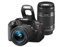 "Câmera Digital Canon EOS Rebel T5 Premium Kit - 18MP Profissional Visor 3"" Filma Full HD"