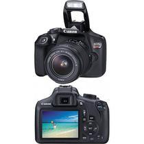 """Câmera Digital / Canon / EOS Rebel T6 / 18MP / Tela 3"""" / Visor Óptico / Gravação em Full HD / 3.0fps - Preta -"""