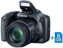"Câmera Digital Canon PowerShot SX530HS 16MP - Visor 3"" Zoom Óptico 50x Filma Full HD Cartão 8GB"
