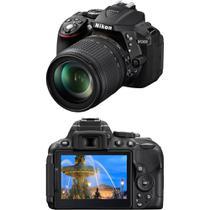 Câmera Digital DSLR Nikon D5300 sensor CMOS DX 24.2MP 18-55mm Preta -