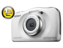 """Câmera Digital Nikon Coolpix S33 13.2MP LCD 2.7"""" - Zoom Óptico 3x Filma Full HD À Prova de Água"""
