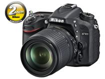 "Câmera Digital Nikon Profissional DX D7100 24.1MP  - Visor 3,2"" Zoom Óptico 105mm Filma em Full HD"