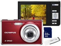 Câmera Digital Olympus X940 14MP LCD 2,7 - Zoom Óptico 4x Cartão 2GB Grátis Pen Drive 4GB