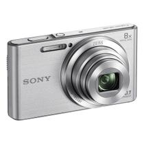 Câmera Digital Sony Cybershot DSC-W830 Prata 20.1MP Zoom Óptico 8X Vídeo HD -