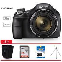 Câmera Digital Sony DSC-H400 20.1 MP, Bolsa Sony, Tripé, Cartão 32gb, Kit Limpeza Digic. - Qualityimport